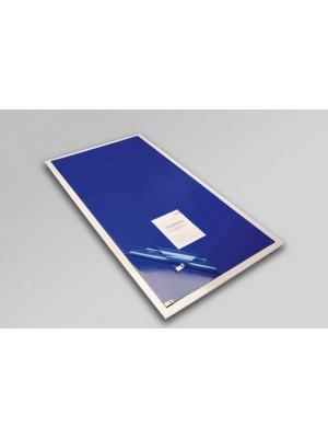 Tappeto decontaminante cm 115x90 con adesivo battericida - set da 30 fogli - comprensivo di basein PVC antiscivolo trasparente per posizionare il tappeto