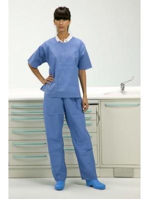 Casacca manica corta con pantalone taglia S azzurro