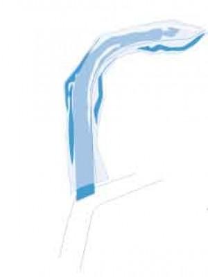 Copertura blocco a mordere per ortopantomografo 9,7x5,7 cm (forma conica) bianco
